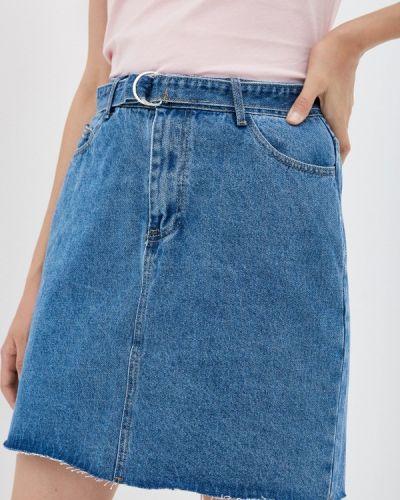 Джинсовая юбка - голубая Sela