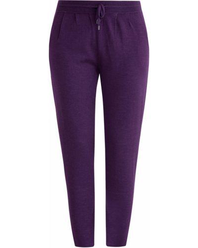 Шелковые брюки - фиолетовые Maison Ullens