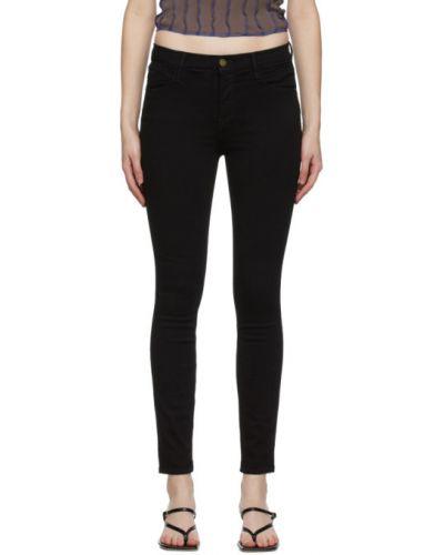 Зауженные черные джинсы-скинни стрейч Frame