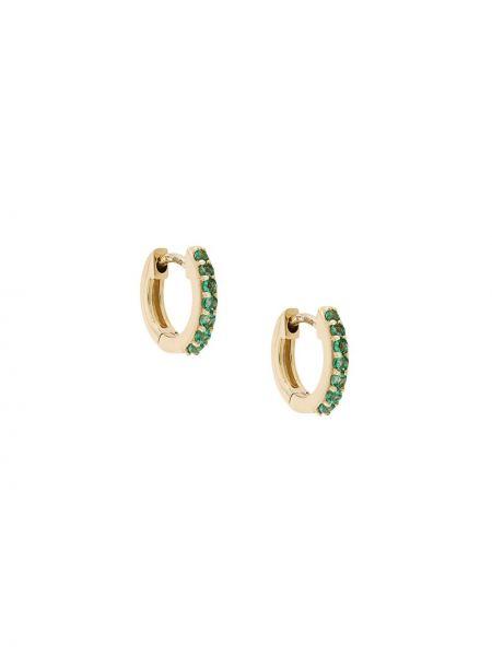 Зеленые серьги-кольца с изумрудом Astley Clarke