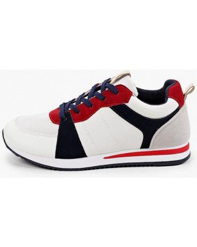 Кожаные белые кроссовки Exquily