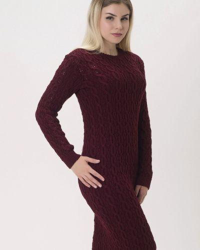 Платье осеннее красный Nataclub