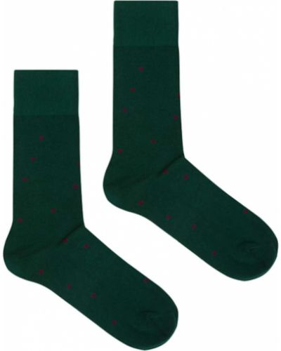 Zielone skarpety bawełniane Kabak