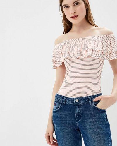 Блузка с открытыми плечами весенний красная Colin's
