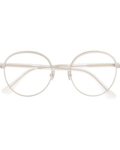 Серебряные очки круглые металлические Jimmy Choo Eyewear