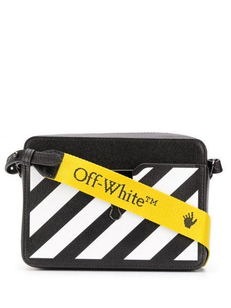 С ремешком белая кожаная сумка на плечо Off-white