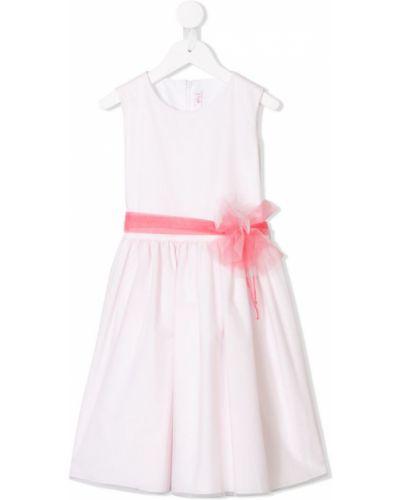 Пышное платье из фатина с рукавами Il Gufo