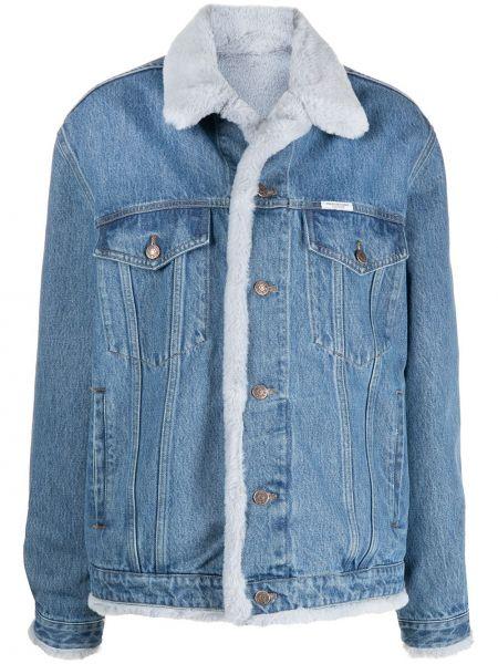 Klasyczne niebieskie jeansy zapinane na guziki Forte Dei Marmi Couture