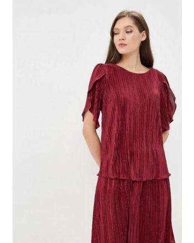Блузка с коротким рукавом бордовый красная Akimbo