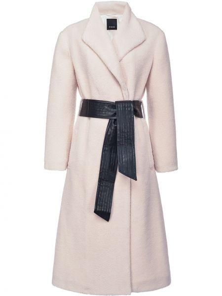 Biały płaszcz z długimi rękawami Pinko