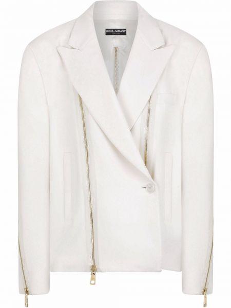 Белый пиджак на пуговицах Dolce & Gabbana