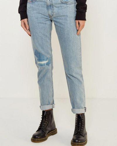 Голубые джинсы-скинни Diesel