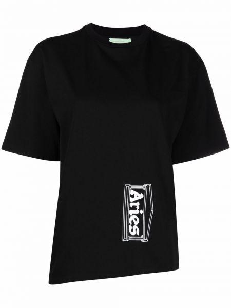 Хлопковая футболка - черная Aries