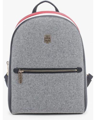 Серый городской кожаный рюкзак Tommy Hilfiger