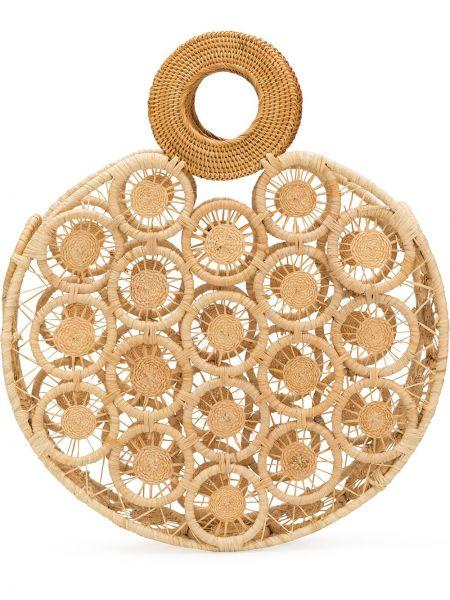 Соломенная сумка-тоут круглая Cult Gaia
