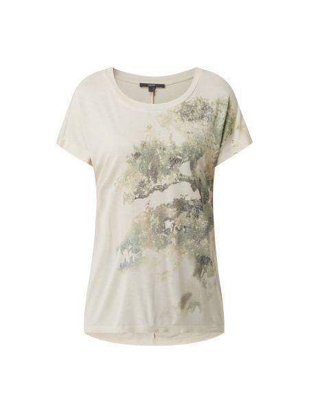 Biała koszulka z wiskozy Esprit Collection
