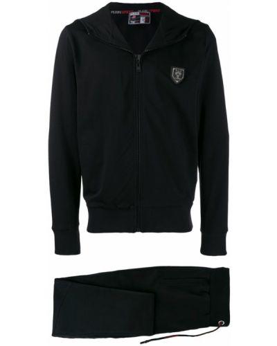 Спортивный костюм черный с капюшоном Plein Sport