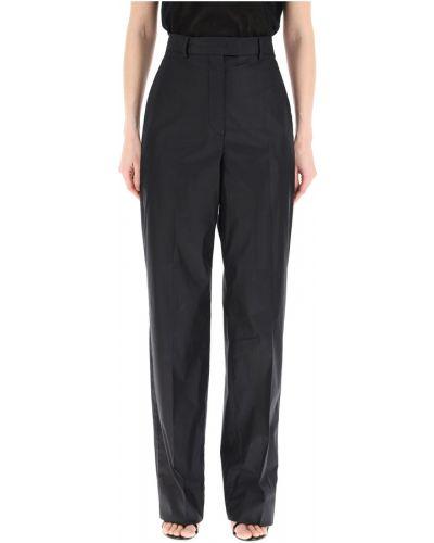 Czarne spodnie bawełniane Sportmax