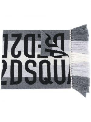 Czarny szalik wełniany Dsquared2