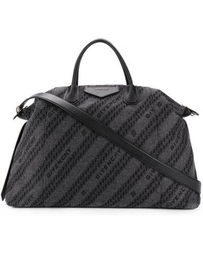 Черная сумка на плечо металлическая на молнии Givenchy