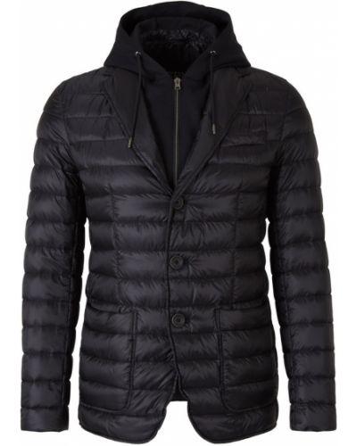 Czarna kurtka pikowana bawełniana Herno