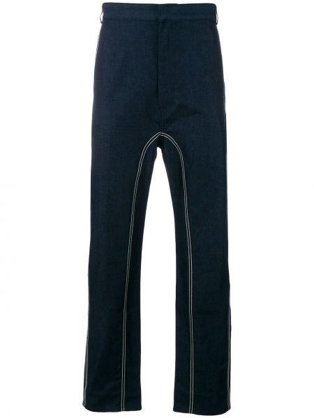 Niebieskie jeansy bawełniane z paskiem Cedric Charlier