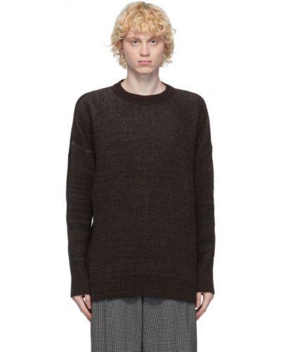 Шерстяной белый свитер с воротником с манжетами Ottolinger