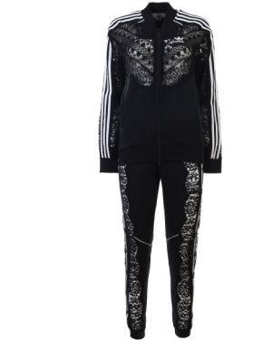 Черный спортивный костюм с поясом на молнии Stella Mccartney