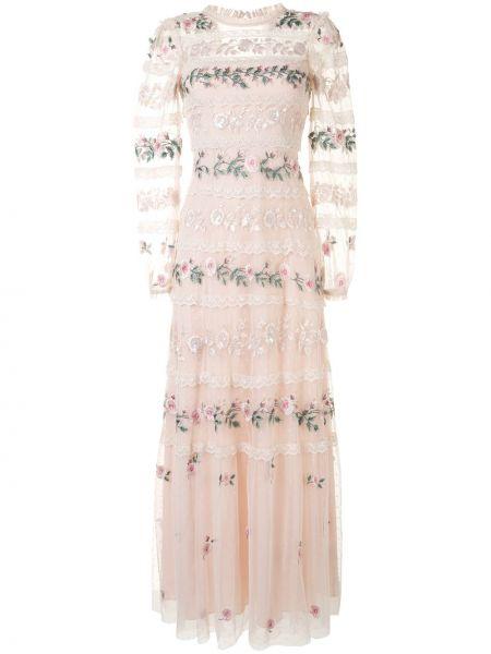 Платье с вышивкой прозрачное с воротником на молнии Needle & Thread