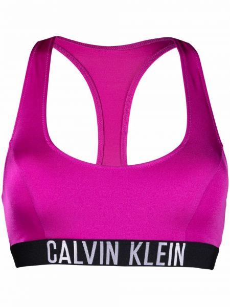 Фиолетовый купальник без рукавов Calvin Klein