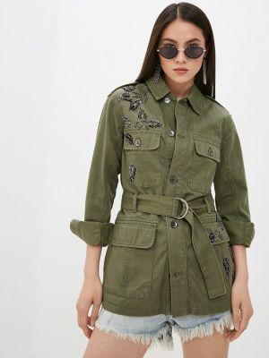 Зеленая джинсовая куртка Liu Jo