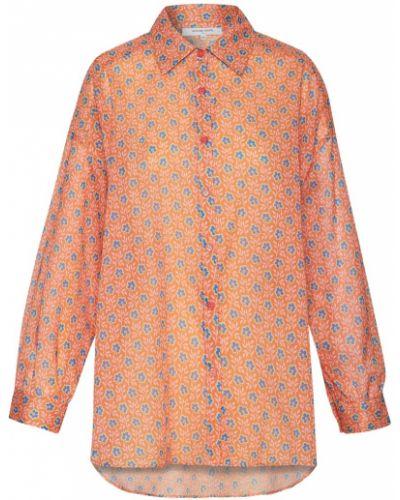 Оранжевая хлопковая блузка Gerard Darel