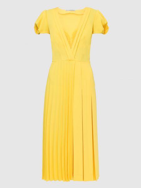 Желтое платье миди Ermanno Scervino