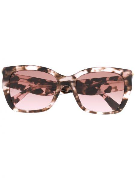 Золотистые розовые солнцезащитные очки Valentino Eyewear