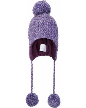 Fioletowa czapka z nausznikami dzianinowa Mountain Warehouse