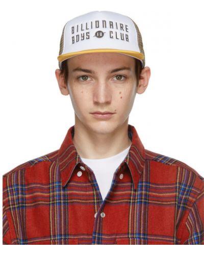 Трикотажная белая шапка с вышивкой Billionaire Boys Club