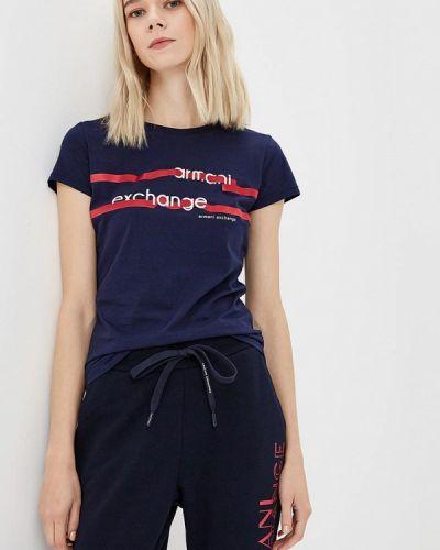 Синяя футболка 2019 Armani Exchange
