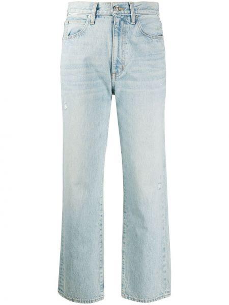 Расклешенные укороченные джинсы на пуговицах с поясом в стиле бохо Slvrlake