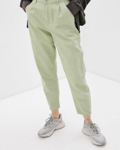 Зауженные зеленые брюки Defacto