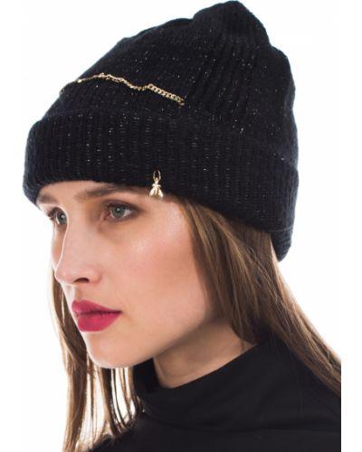 Черная шапка осенняя Patrizia Pepe