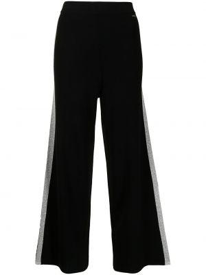 Черные спортивные брюки металлические в полоску Armani Exchange