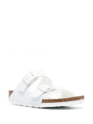 Кожаные сандалии - белые Birkenstock