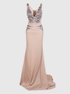 Платье макси - серое Roberto Cavalli