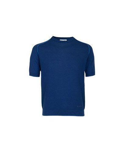 Хлопковая синяя футболка Castello D'oro