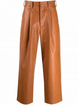Brązowe spodnie z paskiem Viktor & Rolf