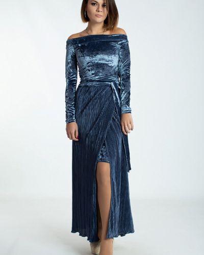 Вечернее платье осеннее синее Modna Anka