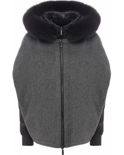 Куртка с капюшоном кашемировая с подкладкой Moorer