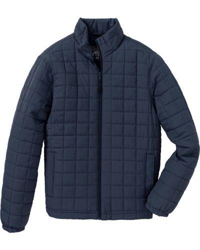 Стеганая куртка темно-синяя синяя Bonprix