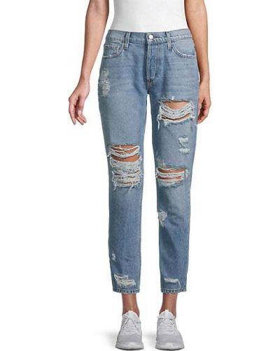 Хлопковые синие укороченные джинсы с карманами Siwy