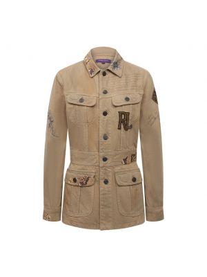 Кожаный пиджак - бежевый Ralph Lauren